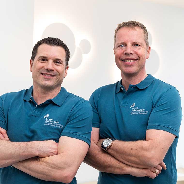 Dr. Tobias Mollemeyer und Dr. Matthias Teufel (links).